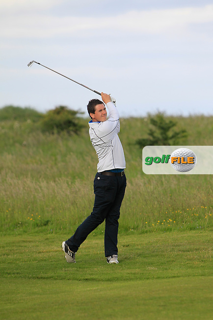 Colm Campbell (Warrenpoint) on the 18th during Round 2 of the East of Ireland in the Co. Louth Golf Club at Baltray on Sunday 1st June 2014.<br /> Picture:  Thos Caffrey / www.golffile.ie