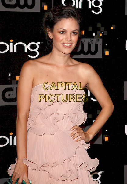 Rachel Bilson.Bing Presents The CW Premiere Party for the New Fall Season Show Lineup held at Warner Bros Studio Lot, Burbank, California, USA..September 10th, 2011.half length pink dress layered layers ruffle hand on hip strapless .CAP/ADM/CH.©Charles Harris/AdMedia/Capital Pictures