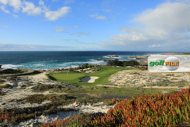 A general view of the 3rd hole Par 3, Spyglass Hill Golf Course during previews ahead of the AT&T Pro-Am, Pebble Beach Golf Links, Monterey, California, USA. 06/02/2019<br /> Picture: Golffile | Phil Inglis<br /> <br /> <br /> All photo usage must carry mandatory copyright credit (© Golffile | Phil Inglis)