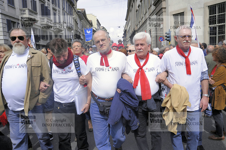 - Milan, demonstration of April 25, anniversary of Italy's Liberation from the nazifascism....- Milano, manifestazione del 25 aprile, anniversario della Liberazione dell'Italia dal nazifascismo