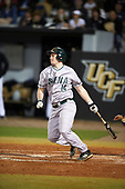 Siena Saints third baseman Brian Kelly (14) at bat during a game against the UCF Knights on February 17, 2017 at UCF Baseball Complex in Orlando, Florida.  UCF defeated Siena 17-6.  (Mike Janes/Four Seam Images)
