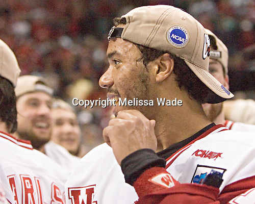 Robbie Earl - The University of Wisconsin Badgers defeated the Boston College Eagles 2-1 on Saturday, April 8, 2006, at the Bradley Center in Milwaukee, Wisconsin in the 2006 Frozen Four Final to take the national Title.