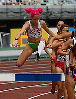 Victoria Mitchell  of Australia ran 10:06.61sec in her heat of the 3000m steeplechase at the 11th. IAAF World Championships on Saturday, August 25, 2007. Photo by Errol Anderson,The Sporting Image.