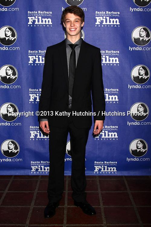 """SANTA BARBARA - JAN 24:  Colin Ford arrives at the Santa Barbara International Film Festival  """"Disconnect"""" premiere at Arlington Theater on January 24, 2013 in Santa Barbara, CA"""