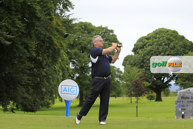 Stephen Munnelly (Castlebar) on the 1st tee during the AIG Connacht Pierce Purcell Shield Semi-Finals of the AIG Connacht Cups &amp; Shields Finals 2016 at Ballinrobe Golf Club, Ballinrobe Co. Mayo on Saturday 6th August 2016.<br /> Picture:  Golffile   Thos Caffrey<br /> <br /> All photos usage must carry mandatory copyright credit   (&copy; Golffile   Thos Caffrey)