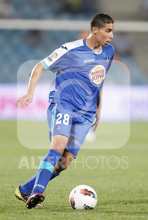Getafe's Abdel Barrada during La Liga Match. September 26, 2011. (ALTERPHOTOS/Alvaro Hernandez)