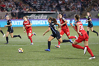 Portland, OR - Saturday August 18, 2018: Danielle Colaprico (24) during a regular season National Women's Soccer League (NWSL) match between the Portland Thorns FC and the Chicago Red Stars at Providence Park.