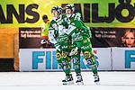 Stockholm 2013-12-03 Bandy Elitserien Hammarby IF - Ljusdals BK :  <br /> Hammarby David Pizzoni Elwing har gjort 4-1 och gratuleras av Hammarby Markus Kumpuoja <br /> (Foto: Kenta J&ouml;nsson) Nyckelord:  jubel gl&auml;dje lycka glad happy