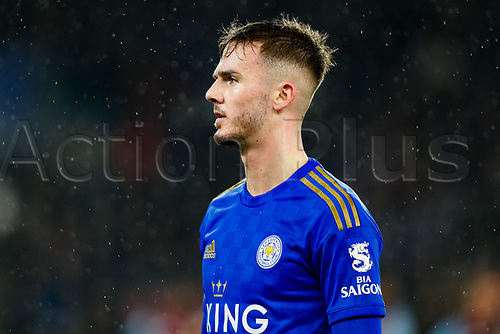8th January 2020; King Power Stadium, Leicester, Midlands, England; English Football League Cup Football, Carabao Cup, Leicester City versus Aston Villa; James Maddison of Leicester City - Strictly Editorial Use Only. No use with unauthorized audio, video, data, fixture lists, club/league logos or 'live' services. Online in-match use limited to 120 images, no video emulation. No use in betting, games or single club/league/player publications