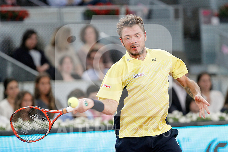 Stanislas Wawrinka during Madrid Open Tennis 2014 match.May, 6, 2014.(ALTERPHOTOS/Acero)