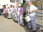THe Samba Mamas playing at the start of the Turfman 10K run in Ardee. Photo:Colin Bell/pressphotos.ie