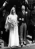BNPS.co.uk (01202 558833)<br /> Pic: Pen&Sword/BNPS<br /> <br /> Anthony and Cara's wedding, 10 June 1937.<br /> <br /> Previously unseen photos of Winston Churchill both in the theatre of war and at leisure afterwards have come to light in a new book.<br /> <br /> One snap shows him addressing troops of his 4th Hussars regiment in Cairo, while he is seen in another at the door of an aircraft with a trademark cigar in his mouth. <br /> <br /> There is also a candid image of the wartime leader painting at Lake Como in September 1945 where he convalesced after losing to Clement Attlee in the general election.<br /> <br /> The photos belonged to Lieutenant Colonel Anthony Barne, who was commanding officer of the 4th Hussars.<br /> <br /> The photos, and Lt Col Barne's war diaries, are published for the first time in a new book, Churchill's Colonel, which has been edited by his grandson Charles Barne.