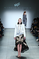 NOVA YORK, EUA, 10.02.2019 - MODA-EUA - Modelo durante desfile da grife M.E no Global Fashion Collective I na semana de Moda de New York no Pier 59 Studios em Manhattan nos Estados Unidos neste domingo, 10 (Foto: Vanessa Carvalho/Brazil Photo Press)