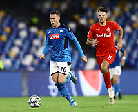 5th November 2019; Stadio San Paolo, Naples, Campania, Italy; UEFA Champions League Group Stage Football, Napoli versus Red Bull Salzburg; Piotr Zielinski of Napoli - Editorial Use