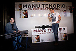 """04.05.2012.Manu Tenorio presented in the El Corte Ingles of Castellana her new album """"First person"""". The singer signed albums and performed several new songs. In the picture: Manu Tenorio (Alterphotos/Marta Gonzalez)"""