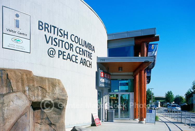 British Columbia Visitor Centre, Surrey, BC, British Columbia, Canada - at Peace Arch International Border Crossing / Douglas Border Crossing to Blaine, Washington State, United States