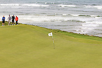 The 7th green during the Semi-Finals of The South of Ireland in Lahinch Golf Club on Wednesday 30th July 2014.<br /> Picture:  Thos Caffrey / www.golffile.ie
