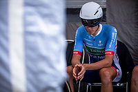 Niki Terpstra (NED/Total Direct Energie) awaits his turn to start his TT. <br /> <br /> Baloise Belgium Tour 2019<br /> Stage 3: ITT Grimbergen – Grimbergen 9.2km<br /> ©kramon