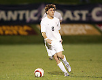 1 November 2006: Virginia's Nico Colaluca. Virginia defeated Clemson 2-0 at the Maryland Soccerplex in Germantown, Maryland in an Atlantic Coast Conference college soccer tournament quarterfinal game.