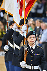 March 4, 2020; Army ROTC color guard at a Men's Basketball game (Photo by Matt Cashore)