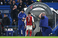 Arsenal's Alexis Sanchez leaves the pitch and heads to the dressing room at the final whistle during Chelsea vs Arsenal, Caraboa Cup Football at Stamford Bridge on 10th January 2018