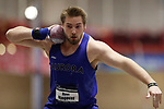 NAPERVILLE, IL - MARCH 11: Ryan Njegovan of Aurora University competes in the shot put at the Division III Men's and Women's Indoor Track and Field Championship held at the Res/Rec Center on the North Central College campus on March 11, 2017 in Naperville, Illinois. (Photo by Steve Woltmann/NCAA Photos via Getty Images)