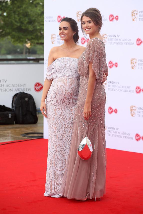 Jennifer Metcalfe & Sophie Porley<br />  arriving at the Bafta Tv awards 2017. Royal Festival Hall,London  <br /> ©Ash Knotek