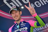 Picture by Pier Maulini/SWpix.com 27/05/2015 Cycling - Giro d'Italia - 27/05/2015 - Stage Seventeen - Tirano - Lugano ( Switzerland )<br /> copyright picture - Simon Wilkinson - simon@swpix.com<br /> Sacha Modolo win his second strage