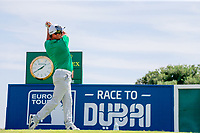 Ryan Fox (NZL)on the 1st tee during the 1st round of the 2017 Portugal Masters, Dom Pedro Victoria Golf Course, Vilamoura, Portugal. 21/09/2017<br /> Picture: Fran Caffrey / Golffile<br /> <br /> All photo usage must carry mandatory copyright credit (&copy; Golffile | Fran Caffrey)