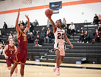#20 Sydney Shipp<br /> The Occidental College men's basketball team plays against Claremont-Mudd-Scripps on February 12, 2020 in Rush Gym. Oxy won 58-49.<br /> (Photo by Marc Campos, Occidental College Photographer)