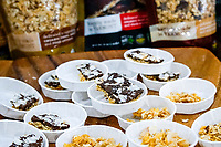 NEW YORK, NY - JUNE 25: Nougats and granola displayed at a stand during the Summer Fancy Food Show at the Javits Center in the borough of Manhattan on June 23, 2019 in New York, The Summer Fancy Food Show is the largest and biggest specialty food industry event in the continent (Photo by Eduardo MunozAlvarezVIEWpress/Corbis via Getty Image