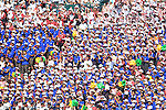 Osaka Toin fans,<br /> AUGUST 25, 2014 - Baseball :<br /> Osaka Toin fans cheer during the 96th National High School Baseball Championship Tournament final game between Mie 3-4 Osaka Toin at Koshien Stadium in Hyogo, Japan. (Photo by Katsuro Okazawa/AFLO)