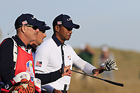 Tiger Woods (Team USA) on the 13th hole during Saturday's Foursomes Matches at the 2018 Ryder Cup 2018, Le Golf National, Ile-de-France, France. 29/09/2018.<br /> Picture Eoin Clarke / Golffile.ie<br /> <br /> All photo usage must carry mandatory copyright credit (© Golffile | Eoin Clarke)