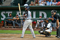 Northwest League All-Star Ashford Fulmer (1) of the Salem-Keizer Volcanoes at bat against the Pioneer League All-Stars at the 2nd Annual Northwest League-Pioneer League All-Star Game at Lindquist Field on August 2, 2016 in Ogden, Utah. (Stephen Smith/Four Seam Images)
