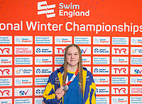 Picture by Allan McKenzie/SWpix.com - 13/12/2017 - Swimming - Swim England Winter Championships - Ponds Forge International Sport Centre - Sheffield, England - Rebecca Clynes takes silver in the women's 50m breaststroke.