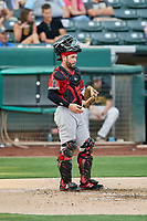 Beau Taylor (6) of the Nashville Sounds during the game against the Salt Lake Bees at Smith's Ballpark on July 27, 2018 in Salt Lake City, Utah. The Bees defeated the Sounds 8-6. (Stephen Smith/Four Seam Images)
