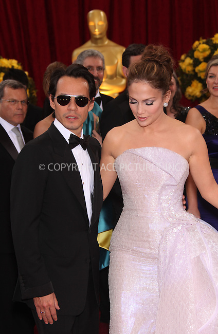 WWW.ACEPIXS.COM . . . . .  ....March 7 2010, Hollywood, CA....Marc Anthony and Jennifer Lopez arriving at the 82nd Annual Academy Awards held at Kodak Theatre on March 7, 2010 in Hollywood, California.....Please byline: Z10-ACE PICTURES... . . . .  ....Ace Pictures, Inc:  ..Tel: (212) 243-8787..e-mail: info@acepixs.com..web: http://www.acepixs.com
