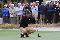 C.T. Pan (International) on the 10th green during the First Round - Four Ball of the Presidents Cup 2019, Royal Melbourne Golf Club, Melbourne, Victoria, Australia. 12/12/2019.<br /> Picture Thos Caffrey / Golffile.ie<br /> <br /> All photo usage must carry mandatory copyright credit (© Golffile | Thos Caffrey)