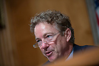 United States Senator Rand Paul (Republican of Kentucky) speaks as Richard Boucher, Former United States Ambassador to Cyprus and Senior Fellow at the Watson Institute for International and Public Affairs, and Lt. Col. Daniel L. Davis, Senior Fellow and Military Expert, testify before the U.S. Senate Subcommittee on Federal Spending Oversight and Emergency Management at the United States Capitol in Washington D.C., U.S. on Tuesday, February 11, 2020.  <br /> <br /> Credit: Stefani Reynolds / CNP/AdMedia