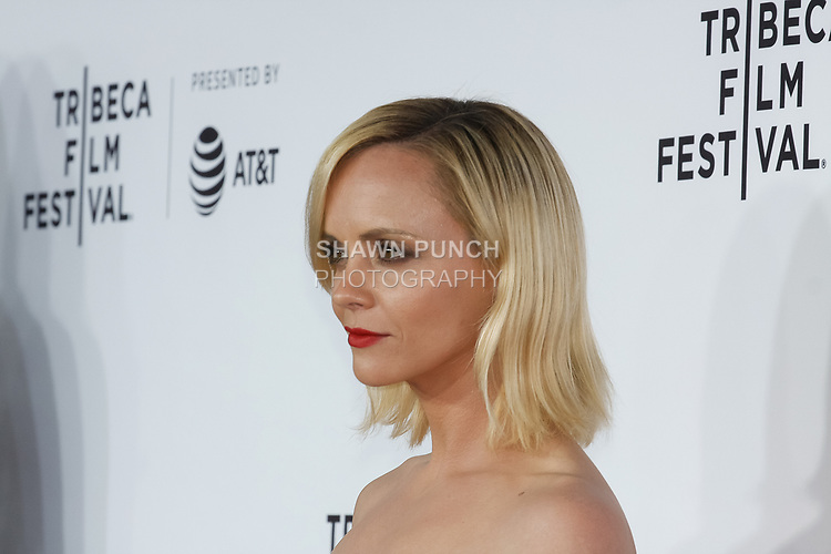 "Christina Ricci arrives at the Clive Davis: ""The Soundtrack Of Our Lives"" world premiere for the Opening Night of the 2017 TriBeCa Film Festival on April 19, 2017 at Radio City Music Hall."