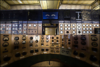 Control panel in control room of Battersea Power Station, London, UK