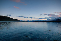Surrounded by the mountains of New Zealand's Southern Alps, Lake Tekapo is the second-largest of three lakes running north–south along the northern edge of the Mackenzie Basin. The lake covers 32 sq miles, and is at an altitude of 2,300 ft above sea level.