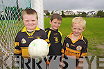 CU?L PALS: James Charles, Greg Scanlon and Evan Foley pictured at the Cu?l Camp at Austin Stacks club in Tralee on Friday.
