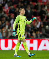 Goalkeeper Jordan Pickford (Everton) of England during the International Friendly match between England and Germany at Wembley Stadium, London, England on 10 November 2017. Photo by Andy Rowland.