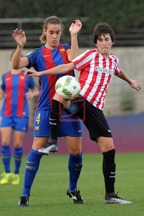 Spanish Women's Football League Iberdrola 2016/17 - Game: 11.<br /> FC Barcelona vs Athletic Club: 2-1.<br /> Marta Unzue vs Erika Vazquez.