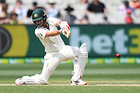 28th December 2019; Melbourne Cricket Ground, Melbourne, Victoria, Australia; International Test Cricket, Australia versus New Zealand, Test 2, Day 3; Joe Burns of Australia clips the ball to the off side- Editorial Use