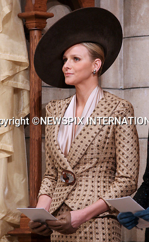 """Charlene Wittstock.MONACO NATIONAL DAY 2010 (Fête Nationale Monégasque 2010).The Royal Family attended the traditional annual Thanksgiving Mass at the Cathedral of Our Lady Immaculate (Cathedrale Notre-Dame Immaculee) as part of Monaco's National Day celebrations. Monaco_19/11/2010..Mandatory Photo Credit: ©Newspix International..**ALL FEES PAYABLE TO: """"NEWSPIX INTERNATIONAL""""**..PHOTO CREDIT MANDATORY!!: NEWSPIX INTERNATIONAL(Failure to credit will incur a surcharge of 100% of reproduction fees)..IMMEDIATE CONFIRMATION OF USAGE REQUIRED:.Newspix International, 31 Chinnery Hill, Bishop's Stortford, ENGLAND CM23 3PS.Tel:+441279 324672  ; Fax: +441279656877.Mobile:  0777568 1153.e-mail: info@newspixinternational.co.uk"""
