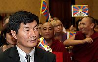 Il Primo Ministro tibetano in esilio Lobsang Sangay durante un incontro presso la sede della Provincia, a Roma, 24 ottobre 2012..Tibet's Prime Minister in exile Lobsang Sangay takes part in a meeting in Rome, 24 October 2012..UPDATE IMAGES PRESS/Riccardo De Luca