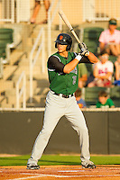 Michael Mergenthaler #28 of the Augusta GreenJackets at bat against the Kannapolis Intimidators at CMC-Northeast Stadium on May 3, 2012 in Kannapolis, North Carolina.  The Intimidators defeated the GreenJackets 11-1.  (Brian Westerholt/Four Seam Images)