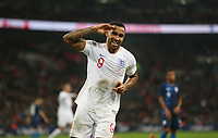 England's Callum Wilson celebrates scoring his side's third goal <br /> <br /> Photographer Rob Newell/CameraSport<br /> <br /> The Wayne Rooney Foundation International - England v United States - Thursday 15th November 2018 - Wembley Stadium - London<br /> <br /> World Copyright © 2018 CameraSport. All rights reserved. 43 Linden Ave. Countesthorpe. Leicester. England. LE8 5PG - Tel: +44 (0) 116 277 4147 - admin@camerasport.com - www.camerasport.com